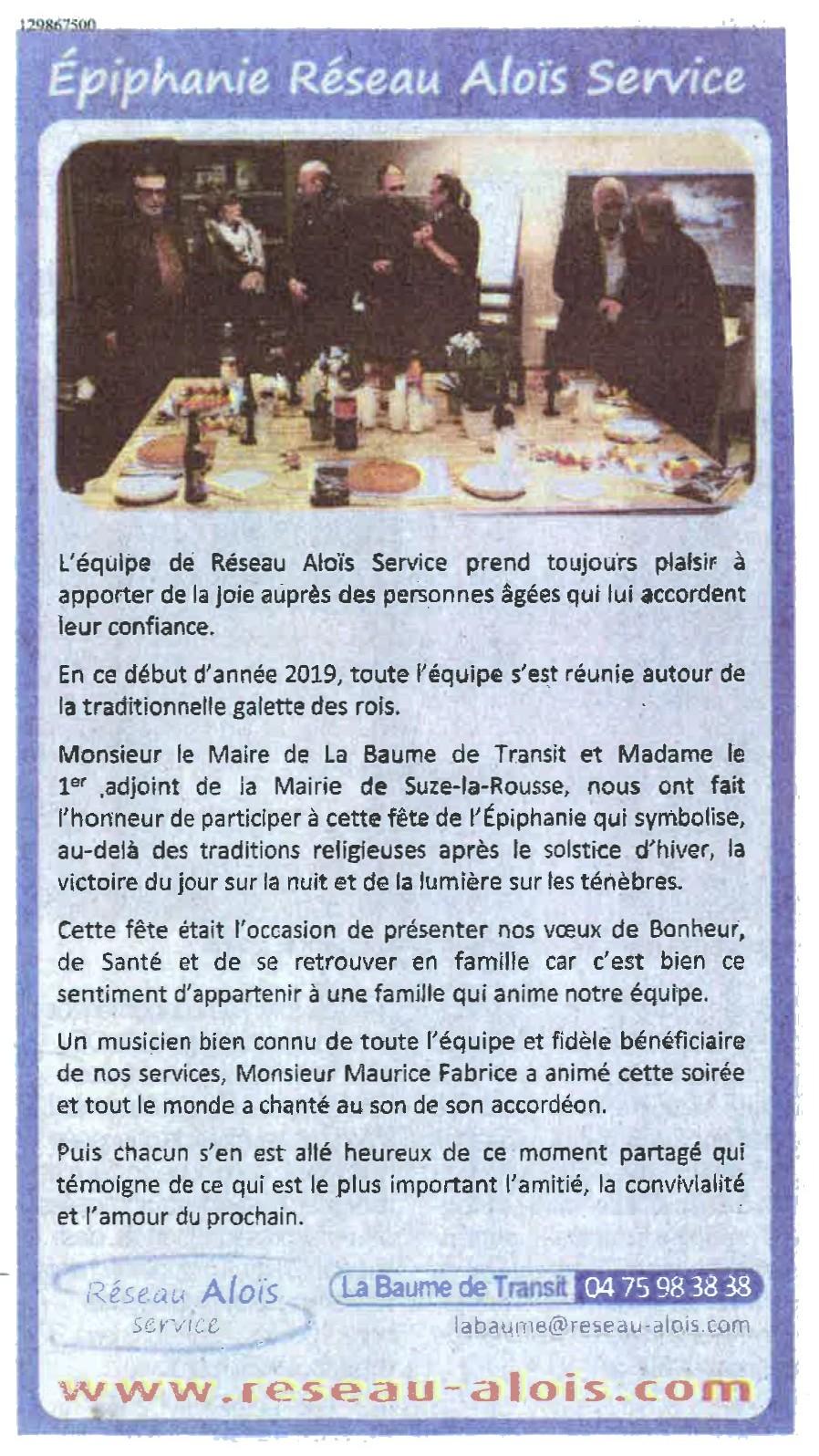 Le Dauphiné Drôme 25 janvier 2019