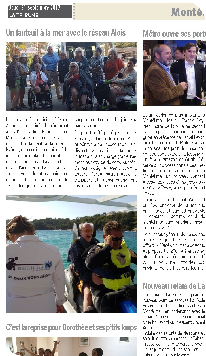 La Tribune 21 septembre 2016