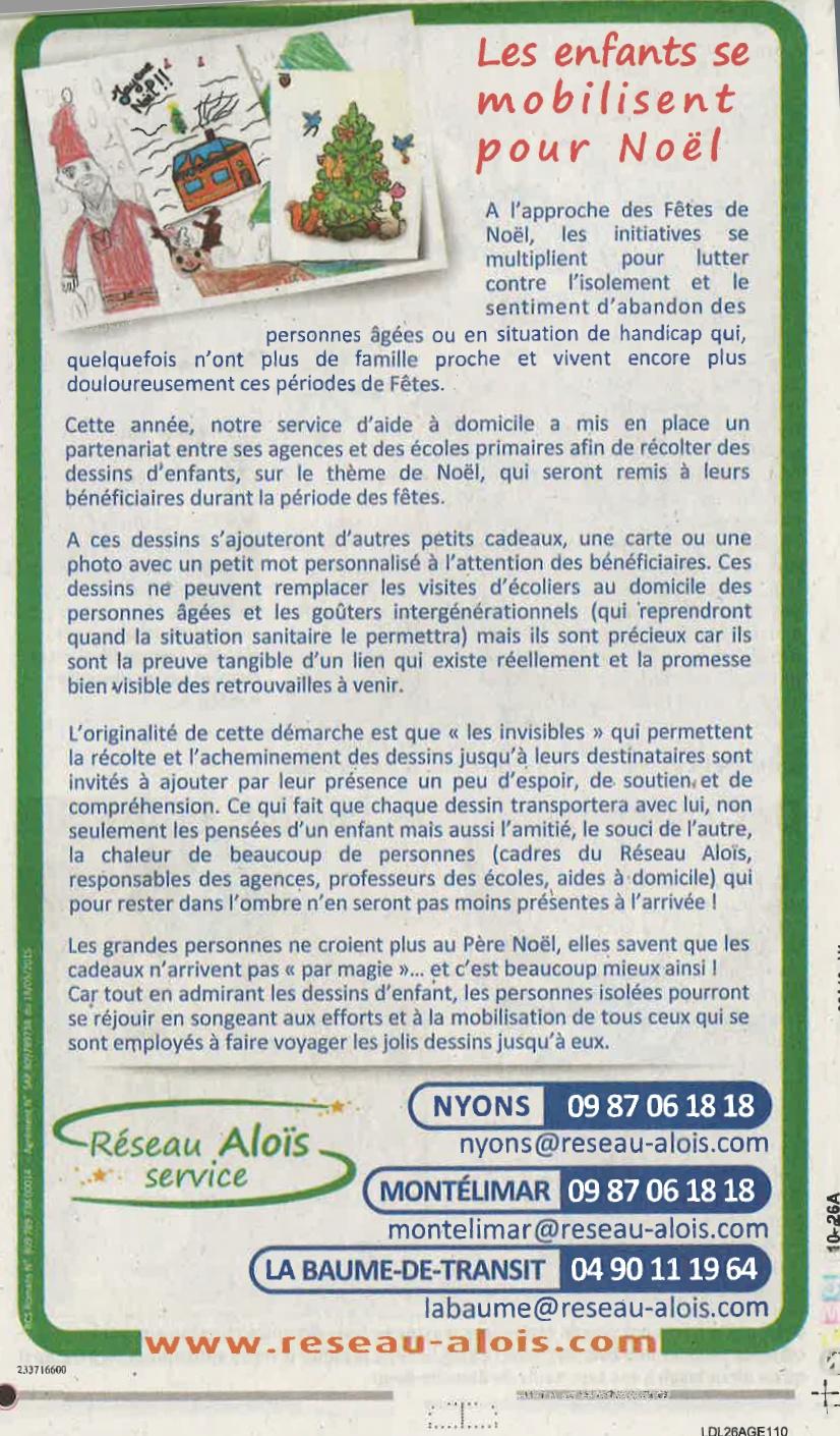 LE DAUPHINÉ édition Drôme  (Montélimar-Nyons-La Baume de Transit)