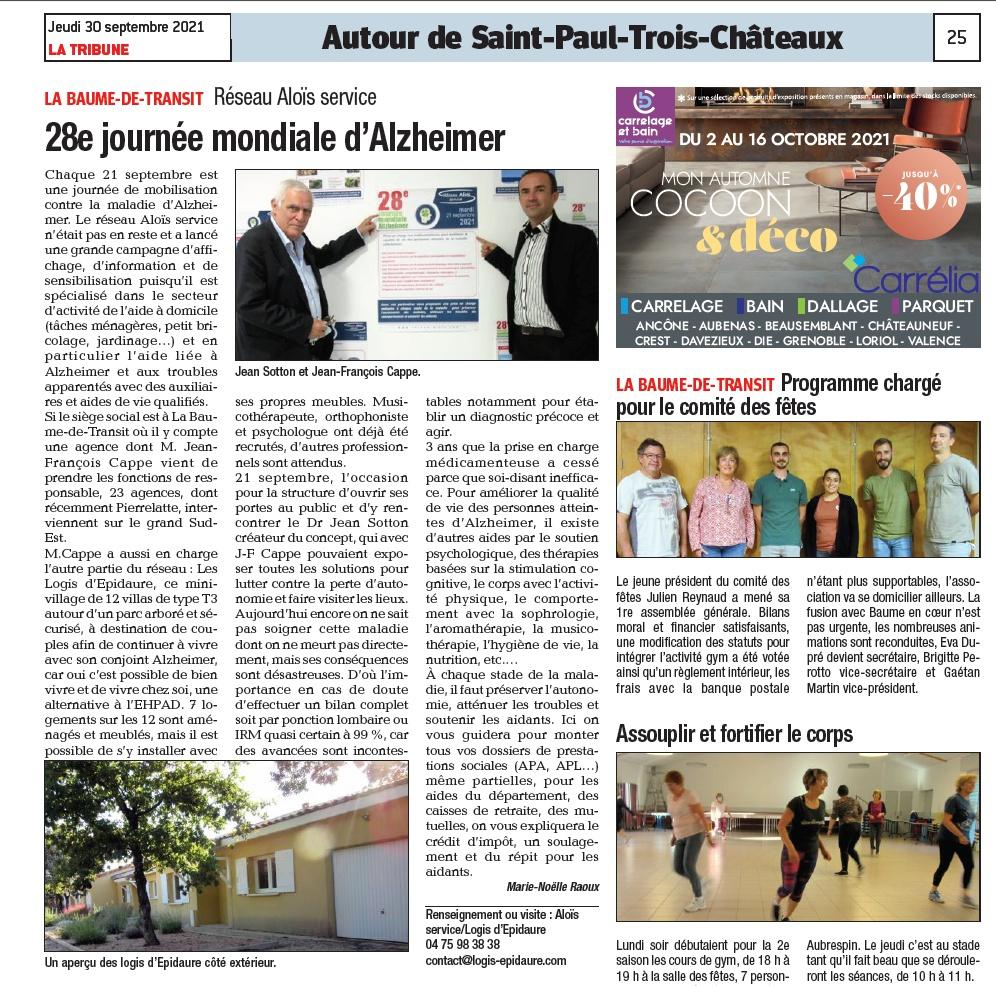 La Tribune 30 septembre 2021 (Edition Tricastin)